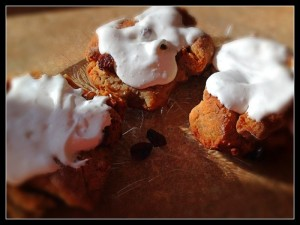 Frosted Flying Apron Cinnamon Rolls