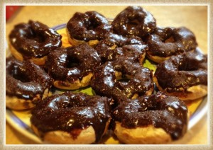 gluten free chocolate covered donuts
