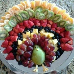 Thanksgiving turkey fruit